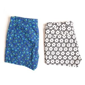 *2 PAIRS* Madewell Floral Print Shorts - Fits XS/S